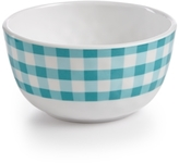 Certified International Frida Gingham Green Melamine Cereal Bowl