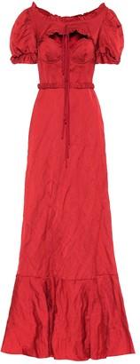 Brock Collection Petya satin maxi dress