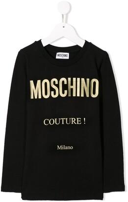 MOSCHINO BAMBINO Logo Print Sweatshirt