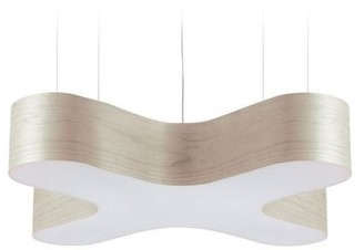 LZF X-Club 4-Light Geometric LED Pendant Shade Color: Yellow