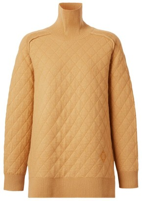 Burberry Diamond-Knit Rollneck Sweater