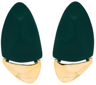 Monica Sordo gold-plated Gilot drop earrings