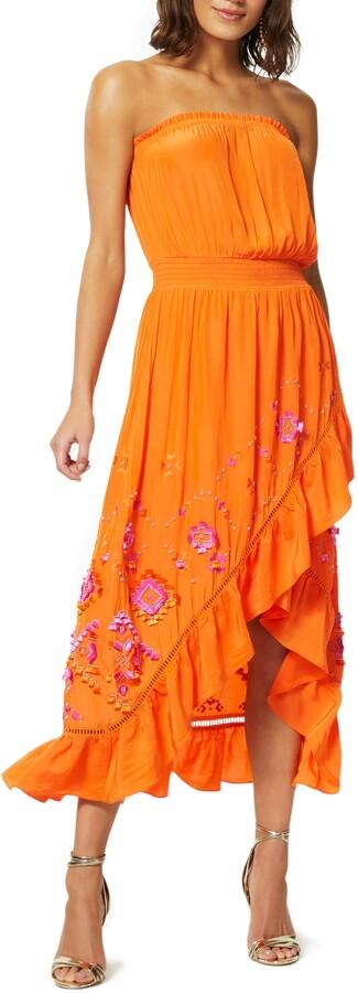Ramy Brook Ronan Strapless Embroidered Dress