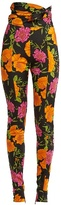 Balenciaga Floral-print high-rise leggings