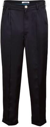 Jiri Kalfar Black Ankle High Silk Trousers