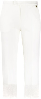 Twin-Set Lace Hem Trousers