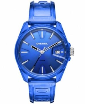 Diesel Unisex MS9 Blue Transparent Ployurethane Strap Watch 44mm