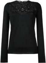 Dolce & Gabbana lace insert jumper - women - Silk/Viscose - 42