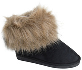 Black Faux Fur Trim Boot