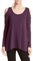 Karen Kane High/Low Hem Cold Shoulder Sweater