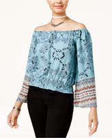 American Rag Juniors' Off-The-Shoulder Bell-Sleeve Peasant Top, Created for Macy's