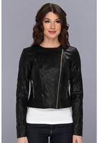 MICHAEL Michael Kors Faux Leather Quilted Moto Jacket