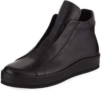 Karl Lagerfeld Paris Men's High-Top Laceless Sneakers