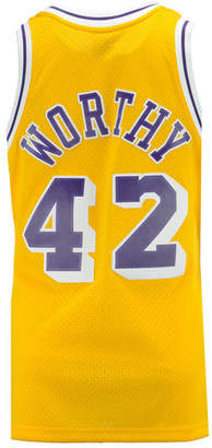 Mitchell & Ness Mithcell & Ness Men James Worthy Los Angeles Lakers Hardwood Classic Swingman Jersey