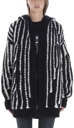Saint Laurent Hooded Striped Cardigan