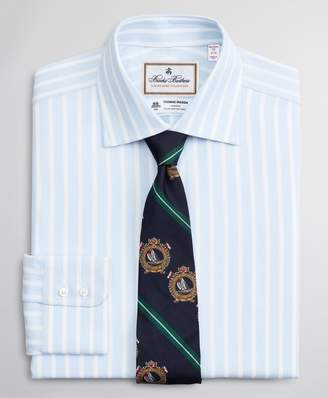 Brooks Brothers Luxury Collection Madison Classic-Fit Dress Shirt, Franklin Spread Collar Stripe