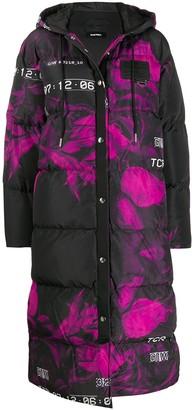 Diesel floral print puffer coat
