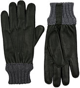 Barneys New York Men's Grained Deerskin Gloves-DARK GREEN