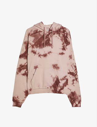 Topshop Tie-dye cotton-blend sweatshirt