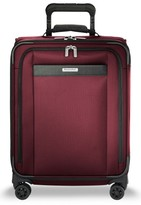 Briggs & Riley Men's Transcend Vx Wide Expandable 21-Inch Spinner Suitcase - Red