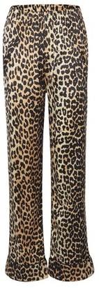 Ganni Silk leopard printed pants