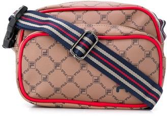 Fila all-over logo messenger bag