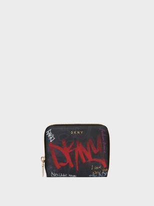 DKNY Small Zip-around Graffiti Wallet