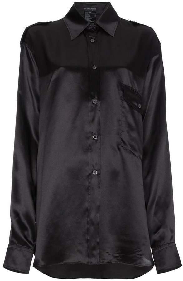 Ann Demeulemeester Black Silk Shirt