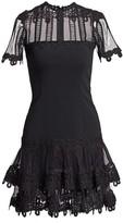 Jonathan Simkhai Guipure Lace Mini A-Line Dress