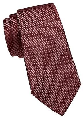 Emporio Armani Textured Silk-Blend Tie