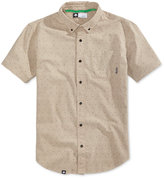 Lrg Men's Square Up Dot-Print Cotton Shirt