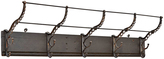 Rejuvenation Industrial Hook Rack w/ Ornate Cast Iron Hooks