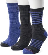 Free Country Women's 3-pk. Marled Stripe Wool-Blend Crew Socks