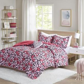 Home Essence Teen Gwen Hot Pink Animal Printed Comforter Set, Twin/Twin XL, Pink