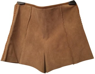 Chloé Beige Leather Shorts for Women