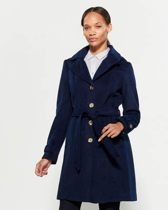 MICHAEL Michael Kors Single-Breasted Belted Wool-Blend Coat