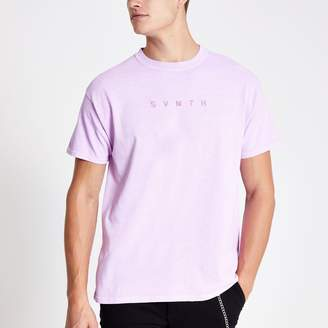 River Island Mens Purple washed Svnth T-shirt