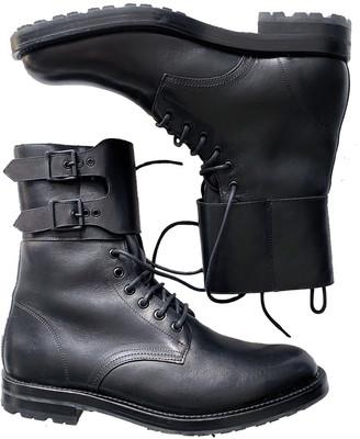 Saint Laurent Army Black Leather Boots