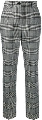 Dolce & Gabbana High-Rise Check Trousers