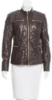 Roberto Cavalli Patterned Leather Jacket