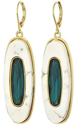 Vince Camuto Drop Earrings (Gold/Montana/White Howlite) Earring