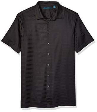 Perry Ellis Men's Big and Tall Sateen Engineered Stripe Shirt
