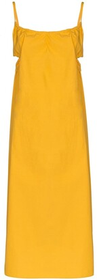 Araks Yeraz cut-out detail midi dress