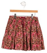 Marie Chantal Girls' Pleated Floral Print Skirt