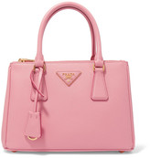 Prada Galleria Mini Textured-leather Tote - Pink