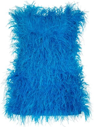 ATTICO Rosie feathered mini dress