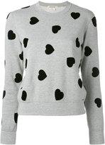 Comme des Garcons flocked heart sweatshirt - women - Cotton - S