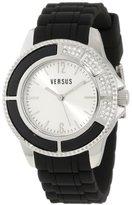 Versus By Versace Women's 3C64300000 Tokyo Black Rubber Silver Dial Crystal Watch