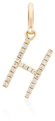 Rosa De La Cruz 18kt yellow gold diamond H charm