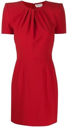 Alexander McQueen shortsleeved draped detailed dress